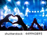 silhouette of a heart shaped... | Shutterstock . vector #449943895