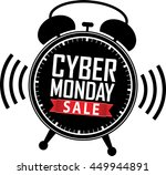 cyber monday sale alarm clock... | Shutterstock .eps vector #449944891