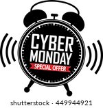 cyber monday special offer... | Shutterstock .eps vector #449944921