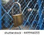 Close Up A Key Lock Hook On...