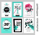 set of sale banners for... | Shutterstock .eps vector #449946649