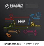 vector e commerce e shop... | Shutterstock .eps vector #449947444