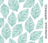 seamless stylish leaves pattern | Shutterstock .eps vector #449949421