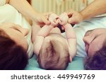 the child keeps for hands of... | Shutterstock . vector #449949769