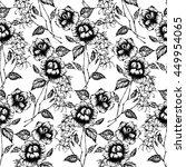 seamless pattern flowers  hand...   Shutterstock .eps vector #449954065