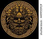 zeus greece god. graphic... | Shutterstock . vector #449955919