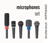 vector colorful microphones... | Shutterstock .eps vector #449956465