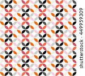 vector geometric circle pattern ... | Shutterstock .eps vector #449959309