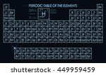 neon periodic table of the... | Shutterstock .eps vector #449959459