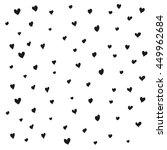 seamless black heart pattern.... | Shutterstock .eps vector #449962684