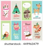 set of cute woodland animals... | Shutterstock .eps vector #449963479