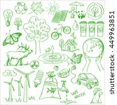 ecology and recycle doodle... | Shutterstock .eps vector #449963851