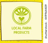 vector logo local farm products.... | Shutterstock .eps vector #449964409