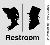 restroom sign. toilet sign in... | Shutterstock .eps vector #449966809