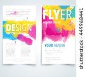 abstract vector brochure logo... | Shutterstock .eps vector #449968441