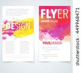 abstract vector brochure... | Shutterstock .eps vector #449968471