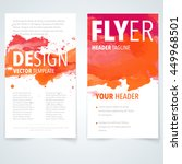 abstract vector brochure... | Shutterstock .eps vector #449968501