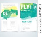 abstract vector brochure... | Shutterstock .eps vector #449968519