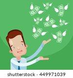 businessman loss money. vector... | Shutterstock .eps vector #449971039