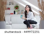 morning coffee is my daily... | Shutterstock . vector #449972251