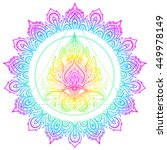 sacred geometry symbol with all ... | Shutterstock .eps vector #449978149