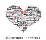 Heart Made Of Love Words   ...