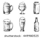 set of icons beer in glass mugs ... | Shutterstock . vector #449980525