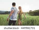 rear view shot of young woman... | Shutterstock . vector #449981731