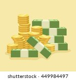 lot of money. vector flat... | Shutterstock .eps vector #449984497