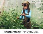 child gardener. | Shutterstock . vector #449987251