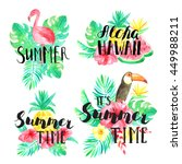 it's summer time  summer  aloha ... | Shutterstock . vector #449988211