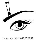 the eye and eyebrow brush