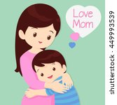 mother's day  embracing  love... | Shutterstock .eps vector #449993539