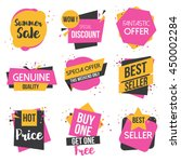 collection of sale discount... | Shutterstock .eps vector #450002284