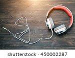 earphone for listening songs | Shutterstock . vector #450002287