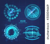 hud elements of high technology ...