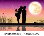 love under the moonlight ... | Shutterstock .eps vector #450006697