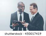 he needs an expert advice. two... | Shutterstock . vector #450017419