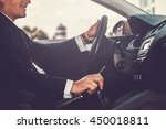 driving with pleasure. close up ... | Shutterstock . vector #450018811