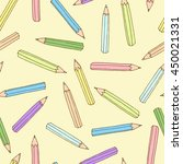 colorful pencils pattern....   Shutterstock .eps vector #450021331