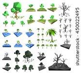 vector  3ds low polygon tree...   Shutterstock .eps vector #450022495