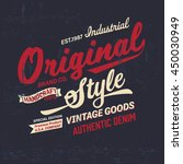 typography vintage logo print...   Shutterstock .eps vector #450030949