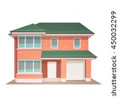 front view of family house ... | Shutterstock .eps vector #450032299