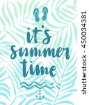 it s summer time hand drawn... | Shutterstock .eps vector #450034381