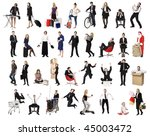 collage of active people... | Shutterstock . vector #45003472