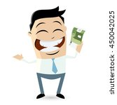 happy businessman with euro... | Shutterstock .eps vector #450042025