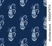 seamless paisley pattern on... | Shutterstock .eps vector #450047974