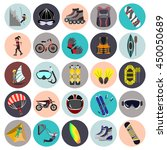extreme sports flat icon set   Shutterstock .eps vector #450050689