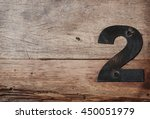 metal number 2 nailed to... | Shutterstock . vector #450051979