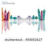 yavuz sultan selim bridge | Shutterstock .eps vector #450052627